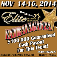 Elite November Barrel Race 2014